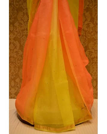 Ranas Kota Silk Peach & Yellow saree