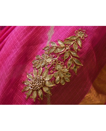 Ranas Kota Silk Red & Pink Leheriya Saree