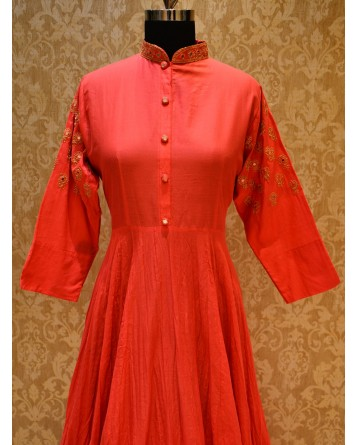 Ranas Red Cotton Kurti