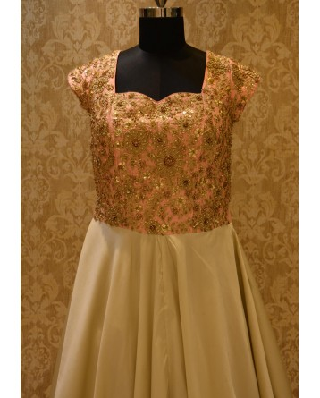 Ranas Cream & Peach Color Gown
