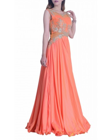 Orange Two Tone Gown