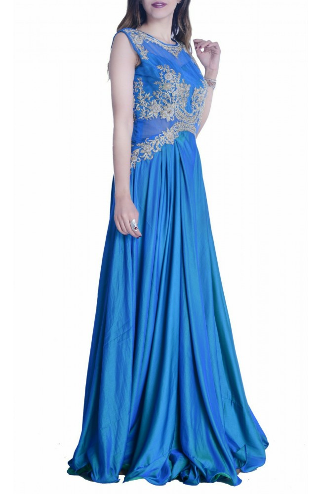 Blue Two Tone Gown