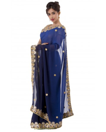 Ranas Blue  Gota Patti Saree