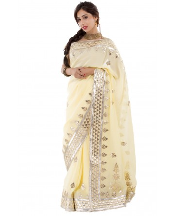 Ranas Yellow Color Gota Patti Saree