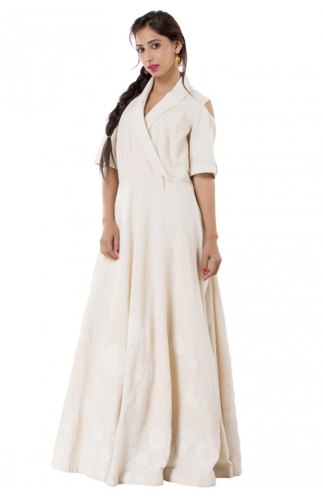 Ranas Creme Color Gown