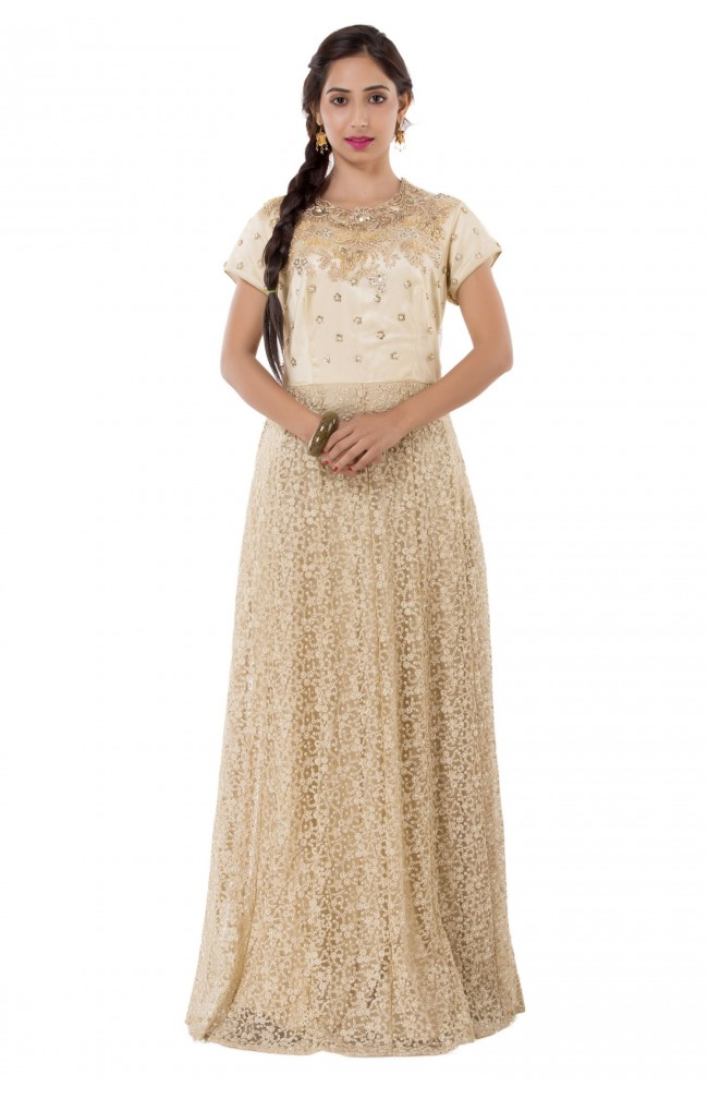 Ranas Golden & Beige Color Gown