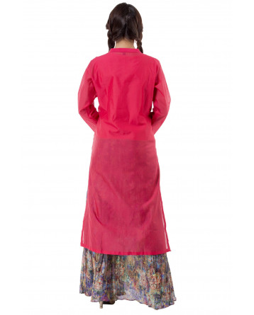 Ranas Red Kurta