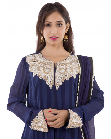 Ranas Blue Georgette Suit