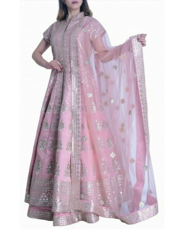 Gota Pati Long Jacket Lehenga