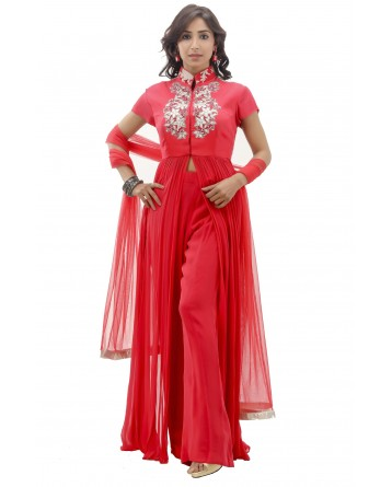 Ranas Red Color Suit