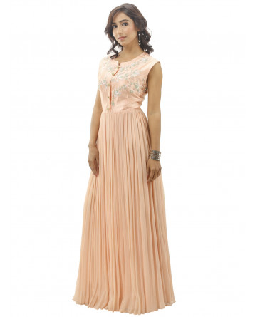 Ranas pure chiffon Peach color Gown
