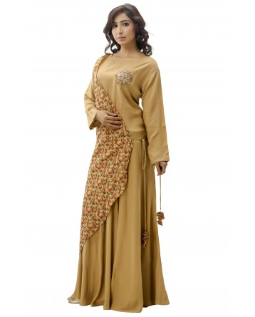 Ranas Brown Color Gown