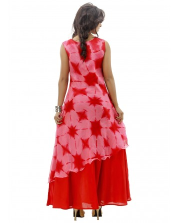 Ranas Pink & Red Gown