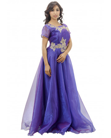 Ranas Purple Color Gown