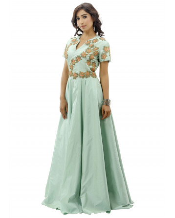 Ranas Sea Green Color Gown