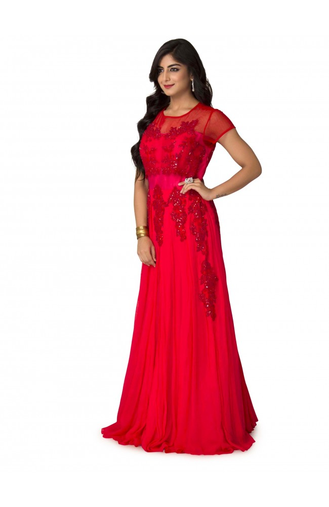 Ranas Red Gown
