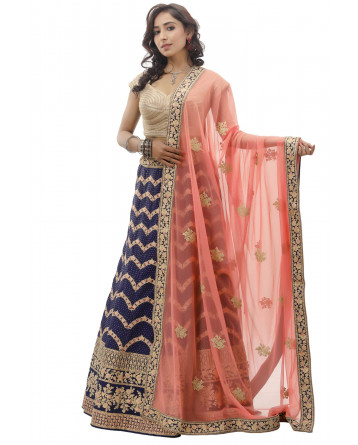 Ranas Blue Color Silk Lehenga
