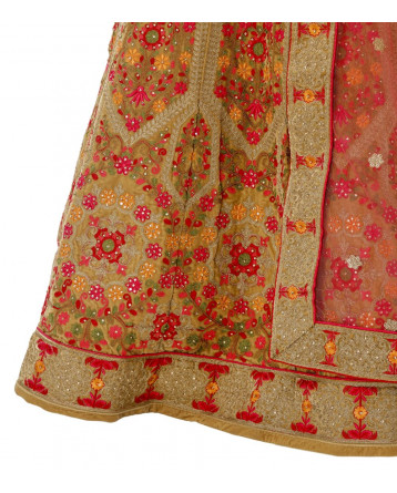 Ranas  Golden color Raw Silk Lehenga