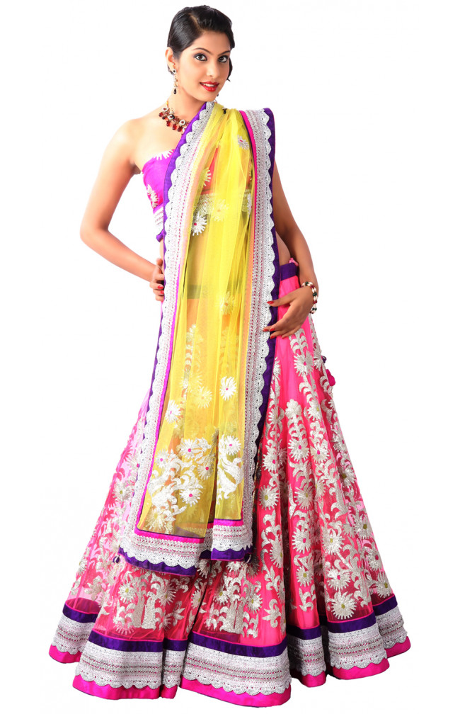Ranas Hot pink color Designer Lehenga