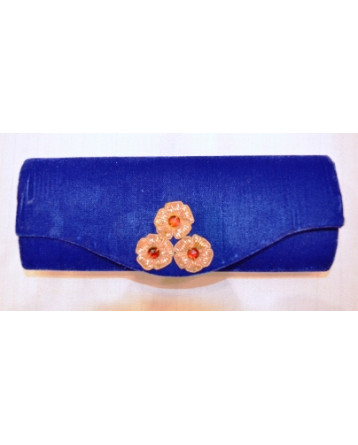Ranas Royal Blue velvet clutch Bag PR015E01