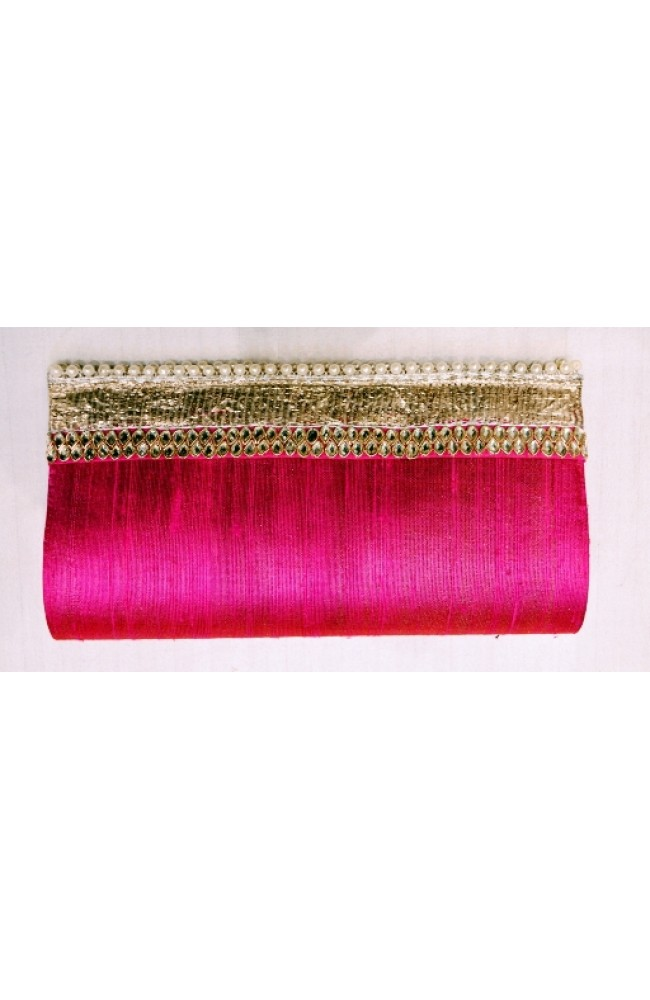 Ranas Pink Raw Silk clutch Bag PR015E02
