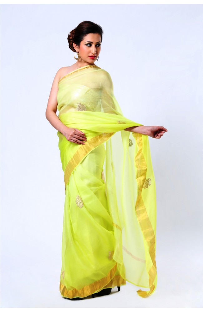Ranas Mint Green Pure kota silk saree