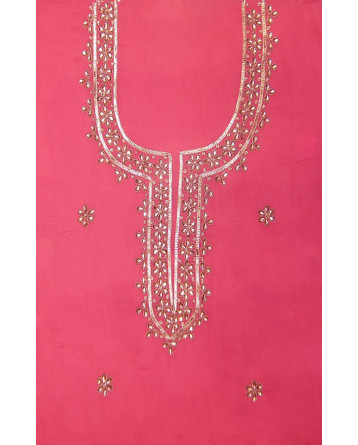 Ranas Chanderi Gota Patti  Sequence Kundan Dori Work Unstitched Kurta Chunni
