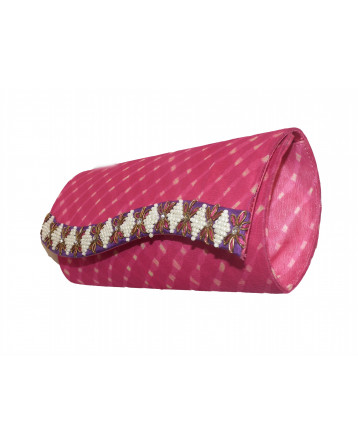 Ranas  Pink Georgette clutch Bag 1398
