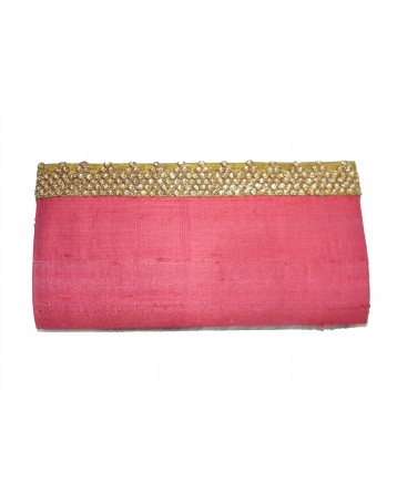 Ranas Red Raw Silk clutch Bag 1400