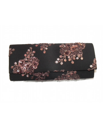 Ranas Black Georgette clutch Bag 1401