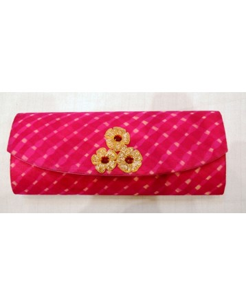 Ranas Pink Georgette clutch Bag 1340
