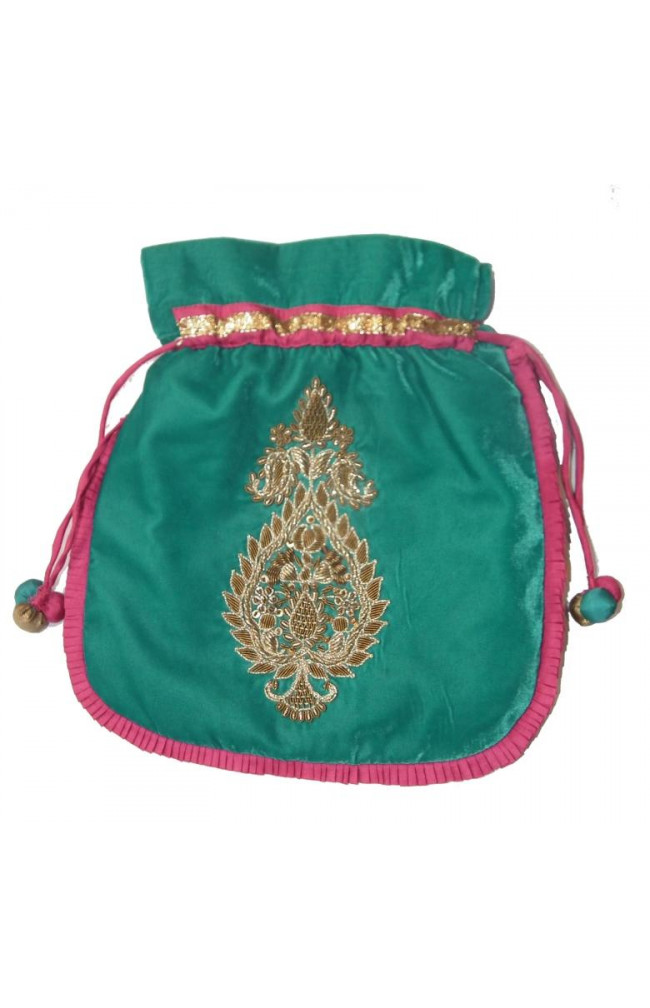 Ranas Designer handmade potli multi colour Bag 1221