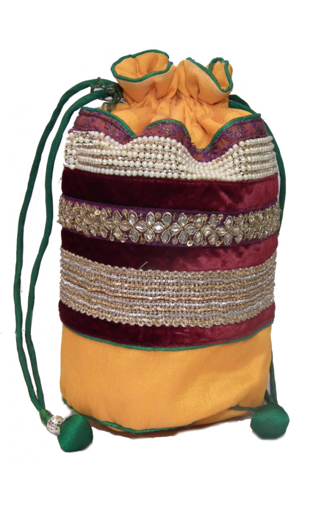 Ranas Designer handmade potli multi colour Bag 1227