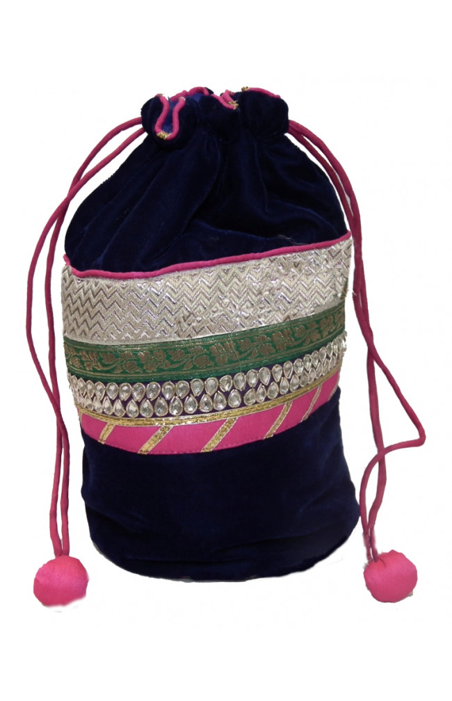 Ranas Designer handmade potli multi colour Bag 1228