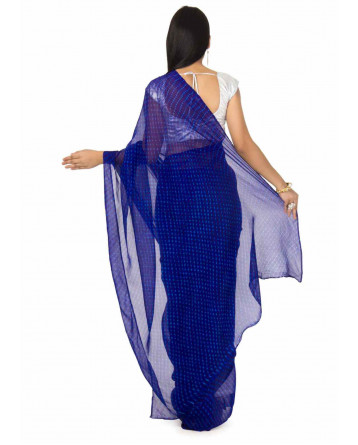Georgette Mothda Leheriya Saree