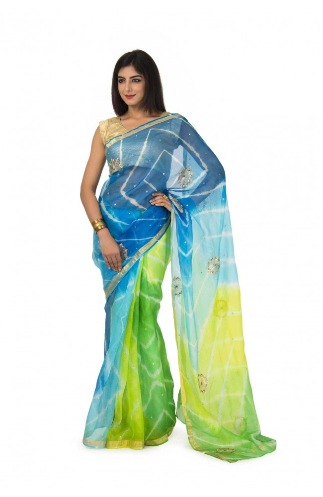 Kota silk Saree In Multi Color