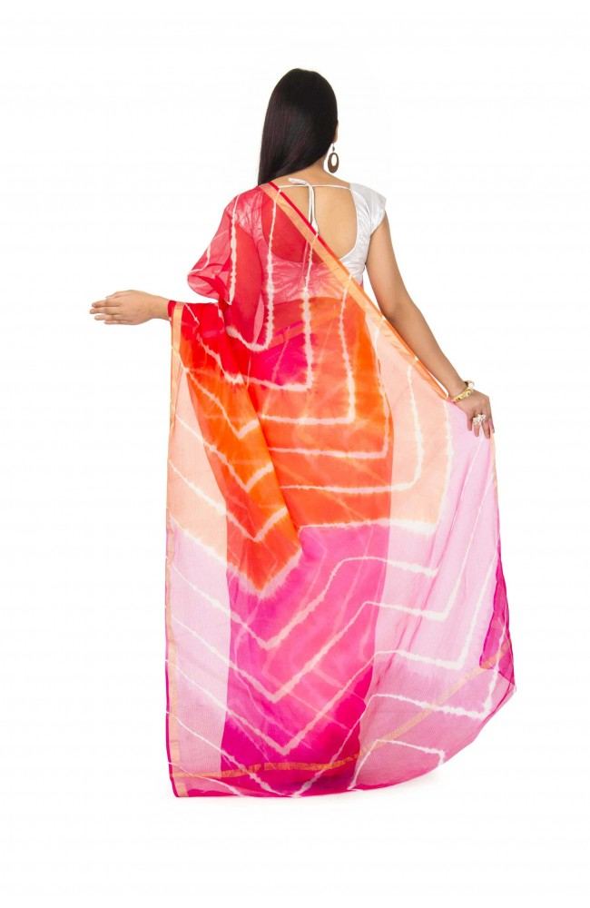 kota Silk Saree In Multi color With zari Border